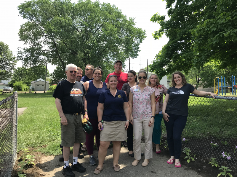 Cleaning up Starr Park on 5/22/18!